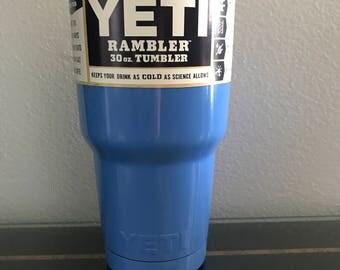 Yeti Candy Blue Powder Coated 30oz