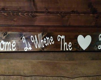 Home is where the heart is 2 ft wall sign
