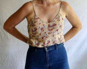 vintage floral long camisole / medium