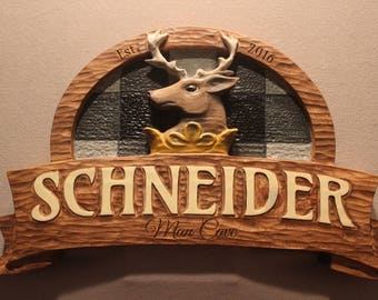 Custom Carved Wood signs, DEER SIGNS, Bear signs, moose signs, wildlife signs, cabin signs, man cave signs, hunting cabin signs