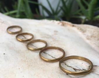Brass Stacker Rings In Person Sales Only