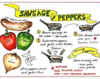 Sausage & Peppers- illustrated recipe