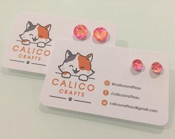SODA POP EARRINGS handmade custom cabochon glitter jewellery