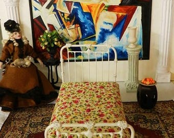 """Artisan Made Barbie 1:6 Scale Wrought Iron Look Bed """"AFTON"""""""
