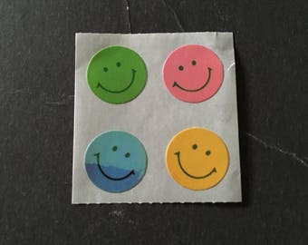 Sandylion vintage 80s very rare shiny smiley face stickers