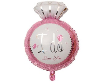 I Do Diamond Ring Balloon for Bachelorette Party, Engagement Party, or Wedding Celebrations