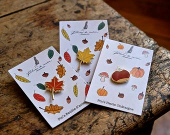 "Set of 3 badges - Collection ""as an air of autumn"""