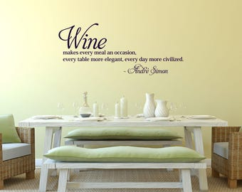 Wine makes every meal an occasion Kitchen Vinyl Wall Quote