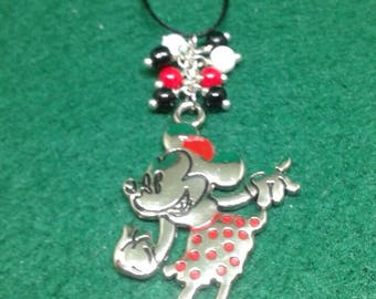 Minnie Mouse inspired christmas ornament