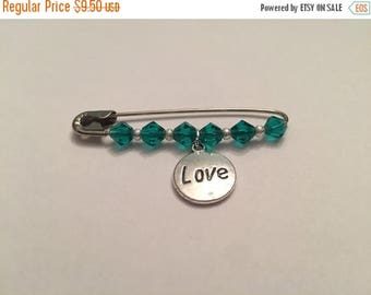 ON SALE Love Safety Pin Pin