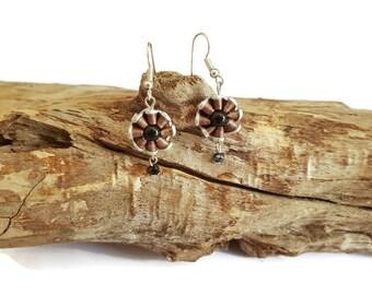 Brown capsule Sun earrings