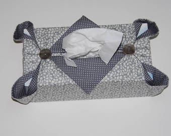 Gray tissue box cover