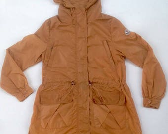 Vintage Moncler Light Jacket Brown Good Condition
