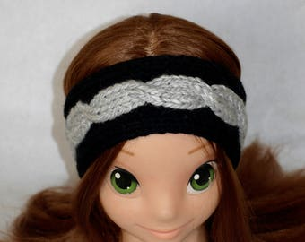 two-tone wool headband