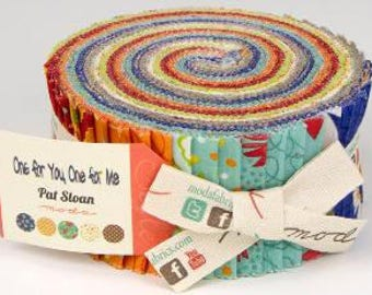 One For Me, One For You Jelly Roll - Pat Sloan Designs - Mode Fabric - Pre Cuts
