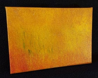 Ambient Painting 2018 #20 (Bulrushes) - acylic on canvas yellow orange red abstract