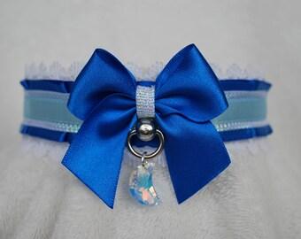 Royal Blue iridescent ruffled Collar
