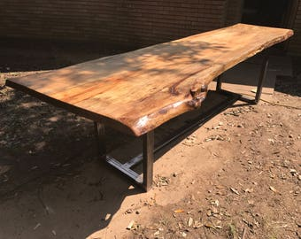 custom live edge dining tablerustic kitchen legtable