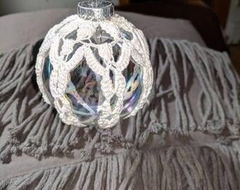 Hand crotchet big Christmas ornament