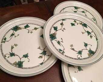 Noritake Keltcraft Ivy Lane Ireland 9180 Dinner Plate (Set of 4) Gray Trim