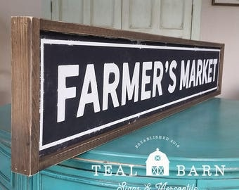 Farmers Market -- Hand Painted Wood Sign Magnolia Market Fixer Upper Farmhouse Style