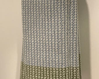 Cotton Dishtowel handwoven in Vermont, soft and absorbent