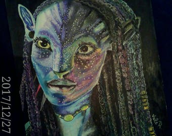 "Orginal art work ""AVATAR NEYTIRI"""