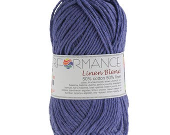 10 x 50 g knitting wool linen blend, #75 lilac