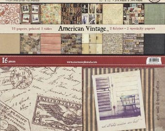 7gypsies American Vintage 8x8 Paper Pad (48sheets)