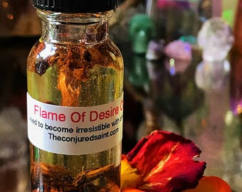 Flame Of desire Oil- use to become irresistible, or make anybody want anything. Good for salespersons.