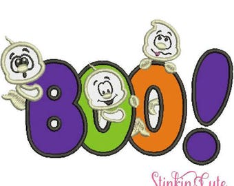 Machine Embroidery Designs Applique Boo- Halloween
