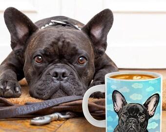 IN THE CLOUDS, Christmas Gift Ideas, Custom Pet Gift, pet lover, pet art, home decor, dog portrait, Pet Pillow, Pet Mug, Pet Tote