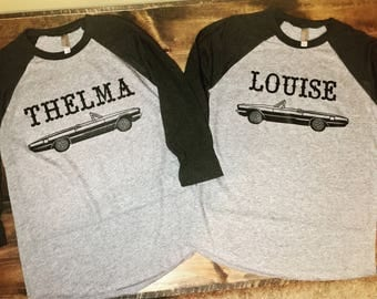 Thelma and Louise Raglan Tees • Best Friend Shirts