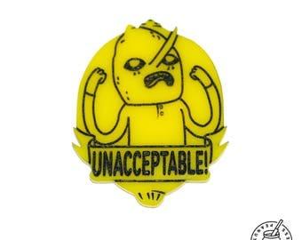 Adventure Time - Lemongrab Pin Badge, magnet