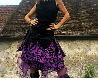 """purple"" rain fairy purple and black underskirt baroque spirit"