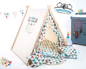 Children play tent indoor playhouse tent teepee best Christmas gift kids  sc 1 st  Etsy & Pirate Adventure Card Table Playhouse Play Teepee Kids