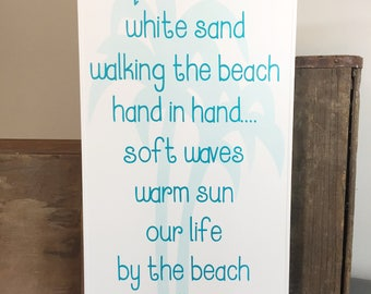 Beach quote nautical decor beach sign beach wall art coastal decor beach art beach house gift beach house decor beach decor wood beach sign