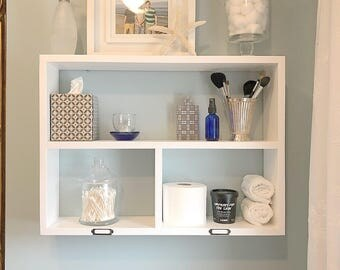 Bedroom Organizer. Bedroom Shelf  Bathroom with Storage Over the Toilet Floating Shelves organizer Etsy