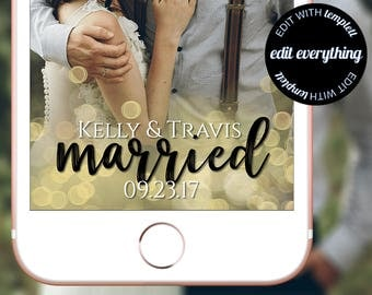 Just Married Snapchat Wedding Geofilter - Just Married Wedding Snapchat Geofilter - Just Married Snapchat Filter - Just Married Filter