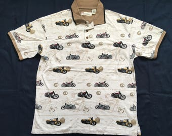 Vintage Motorcycle polo shirt-Harley-Indian-biker