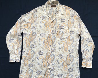 Paisley button shirt-Psychedelia-garage rock-60's punk