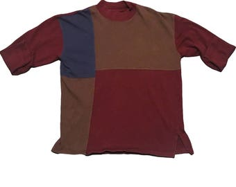 Long sleeve Color block Sweater, 90's style, 90's color block, color blocking, long sleeve color block, vintage fashion, vintage sweater
