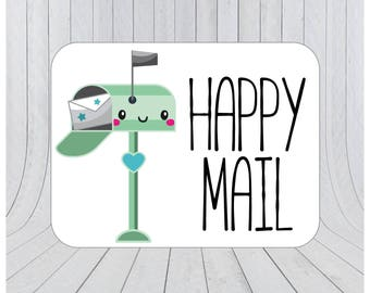 Happy mail stickers, Mail stickers, packaging stickers, delivery stickers, Happy post, packaging labels, etsy packaging stickers 115