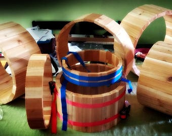 Custom made community drums