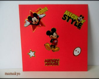 "card 3D ""MICKEY STYLE"""