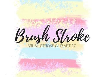 Brush Stroke Clip Art - paint splatter - Ink blob clip art - Paint brush clip art - Commercial clip art