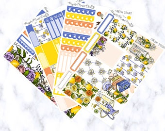 Fresh Start Mini Kit | Planner Stickers | Erin Condren Vertical