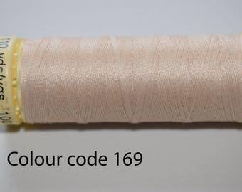 Gutermann sew all thread, sewing thread, polyester thread, quilting thread, 100m threads, green thread, lime thread, beige thread, brown