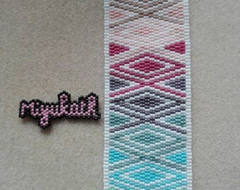 Handmade with Japanese Miyuki beads woven Cuff Bracelet
