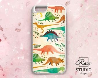 Dinosaur iPhone case Dinosaur case Cute dinosaurs iPhone case dinosaur iPhone 8 case Dinosaur print Name iPhone case iPhone 6 TPU case